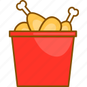 chicken, combo, fast, food, meal, menu, restaurant icon