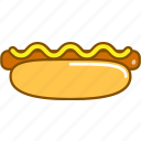 colored, dog, elements, fast, food, food icon, hot icon
