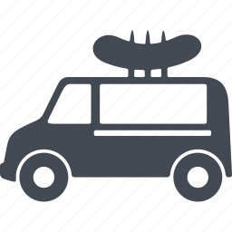 car, delivery of products, fast food, transport icon
