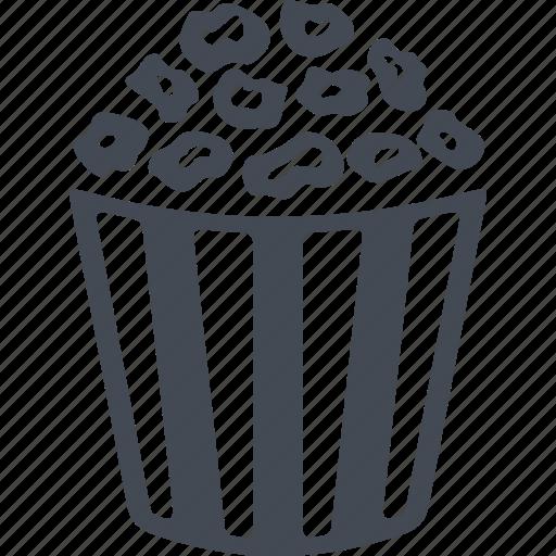 fast food, fastfood, food, popcorn icon