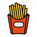chips, fast, finger, food, french, fries icon