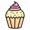 cake, cupcake, desert, food, muffin, pastry, sweet icon