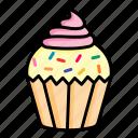 cake, cupcake, desert, food, muffin, pastry, sweet
