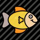 animal, fast, fish, food, ocean, seafood icon