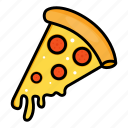food, italian, piece, pizza, slice, snack icon