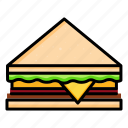 bread, breakfast, fast, food, healthy, sandwich, snack icon