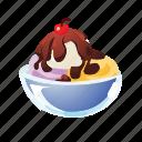 cherry, dessert, ice cream, pud, pudding, sweet