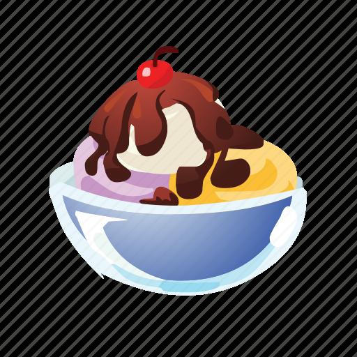 Cherry, dessert, ice cream, pud, pudding, sweet icon - Download on Iconfinder