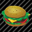 burger, cheeseburger, fast food, hamburger, mcdonalds icon