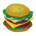 burger, cheeseburger, fast food, hamburger, sandwich, whopper icon
