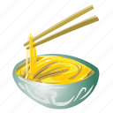 asian, bowl, chinese, chopsticks, japanese, noodles icon