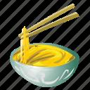 asian, bowl, chinese, chopsticks, japanese, noodles