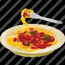 food, italian, meal, meatballs, pasta, spagetti, spaghetti icon