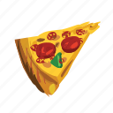 cheese, fast food, italian, pepperoni, pizza, slice, takeaways icon