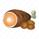 beef, cooking, food, meat, pork, roast icon