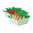 crab, fast food, meal, prawn, seafood, shrimp, take out icon