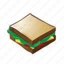 food, sandwhich, toasted icon