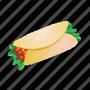 enchilada, food, mexican, tortilla, wrap icon