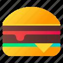 burger, fast food, hamburger, snack