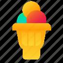 cone, ice cream, scoop, sweet