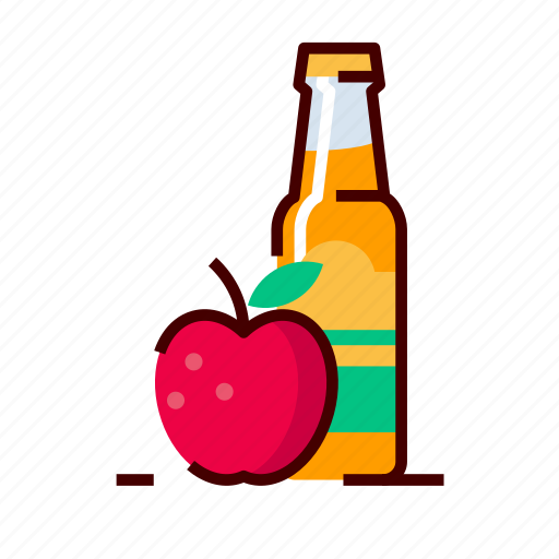 apple, cider, craft, drinks icon
