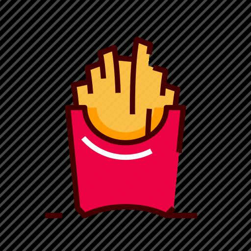 fastfood, french, fries, potato icon