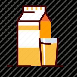 beverage, glass, juice icon