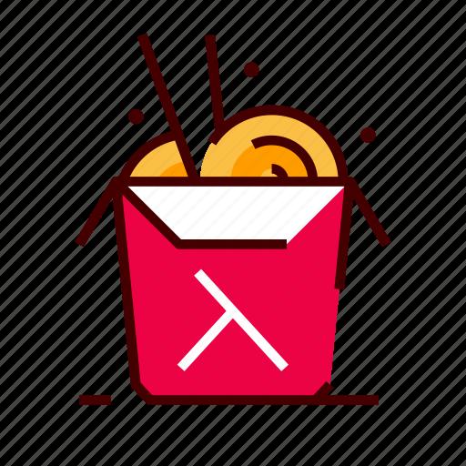 asian, box, fastfood, noodles, thai icon