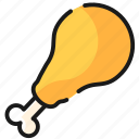 chicken, fast food, food, meal icon