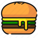 burger, fast food, food icon