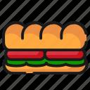 fast food, food, sandwich icon