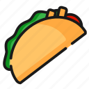 fast food, food, taco icon
