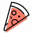 pizza, slice, fast food, italian