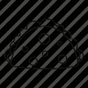cheburek, empanada, food, line, meat, outline, thin icon