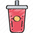 cup, drink, fast food, soda, take away icon