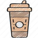 coffee, cup, drinks, fast food, take away