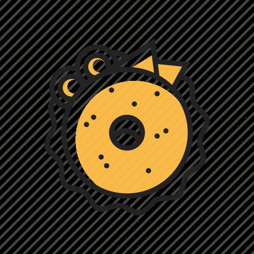 bagel, bakery, bread, breakfast, cheese, food, tasty icon