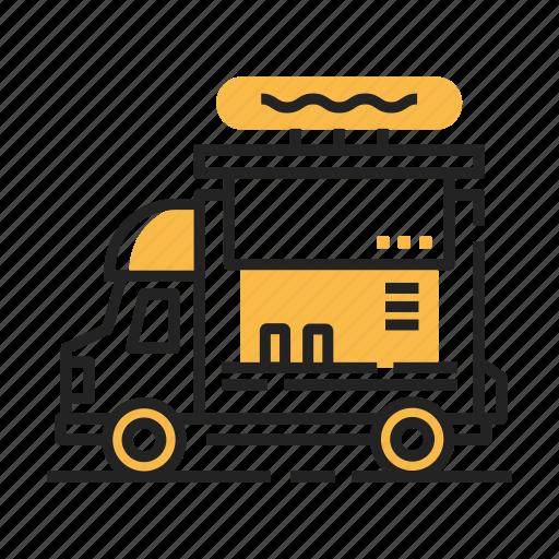 festival, food truck, hipster, restaurant, transport, truck, van icon