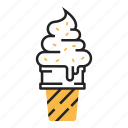 cone, dessert, fast food, ice cream, summer, sweet, tasty icon