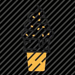cone, dessert, fast food, ice cream, summer, sweet, tasty icon