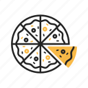 cheese, fast food, food, italian, pepperoni, pizza, slice icon