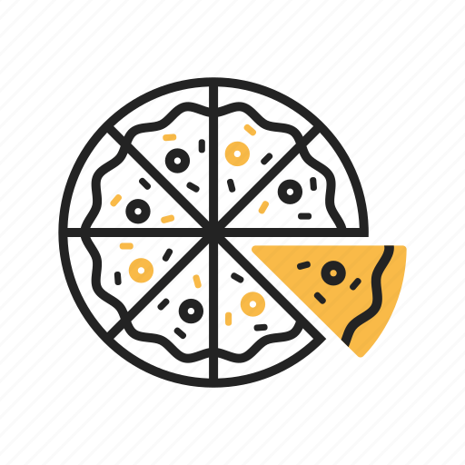 cheese, fast food, food, italian, pepperoni, pizza, slice icon