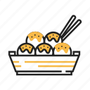 fast food, food, japan, japanese, snack, takoyaki icon