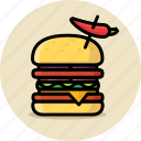 big mac, burger, cheeseburger, fast food, hamburger, junk food, spicy icon