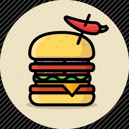 big mac, burger, cheeseburger, fast food, hamburger, junk food, spicy icon