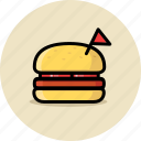 burger, cheeseburger, fast food, hamburger icon