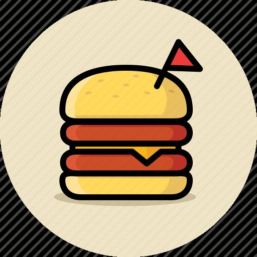 burger, cheeseburger, double, fast food, hamburger, junk food icon