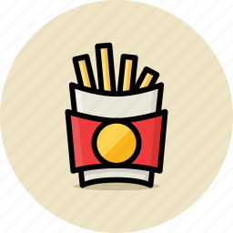 fast food, french, fries, junk food icon