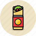 fast food, junk food, kebab icon
