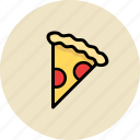 fast food, junk food, pica, pizza, saliami icon